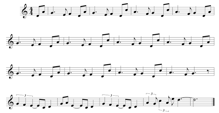 Collection of Musical Notes and Symbols in a white background.